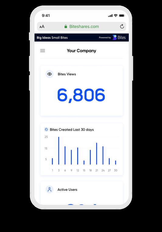Bites analytics on mobile