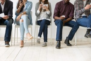 a group on new employees onboarding via mobile devices